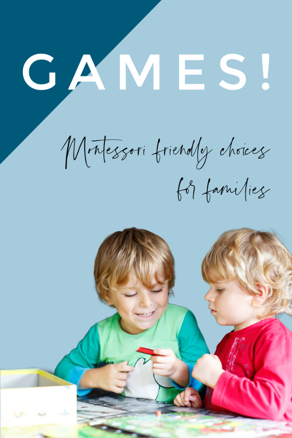 Games are a fun activity for children in a Montessori family. In this Montessori parenting podcast we discuss our favorite games for a variety of ages