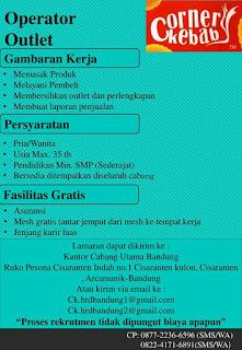 Karir Lowongan Kerja Corner Kebab Bandung  PT Arlinda Putra Terbaru 2019