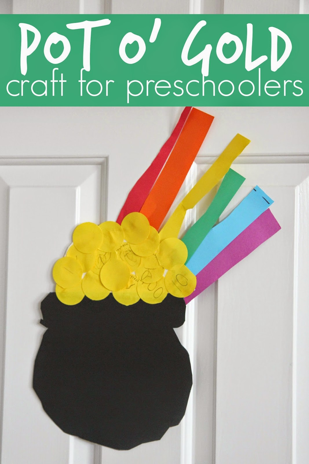 Toddler Approved Easy Preschool Cutting Craft Pot O Gold
