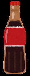 瓶に入った飲み物のイラスト(コーラ)