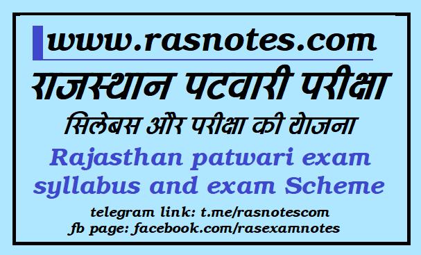 Patwari Exam Syllabus and Scheme of exam [Rajsthan]