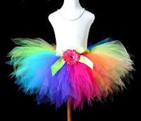 designer rainbow tutu