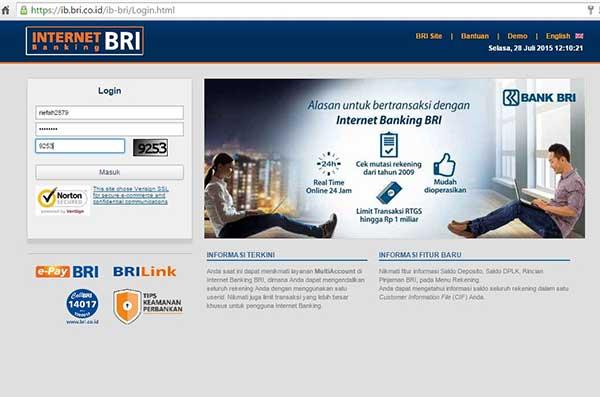 User ID BRI Internet Banking Terblokir Tidak Pernah Login
