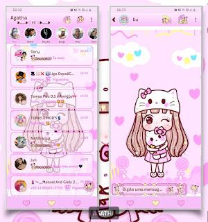Girl & Hello Kitty Theme For YOWhatsApp & Fouad WhatsApp By Agatha