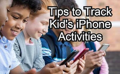 track kid's iphone activities