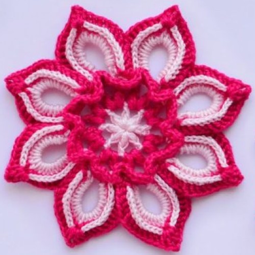 Beautiful Flower - Free Crochet Pattern