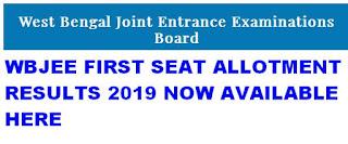 WBJEE First Allotment Results 2019 Rank list @ wbjeeb.nic.in 1