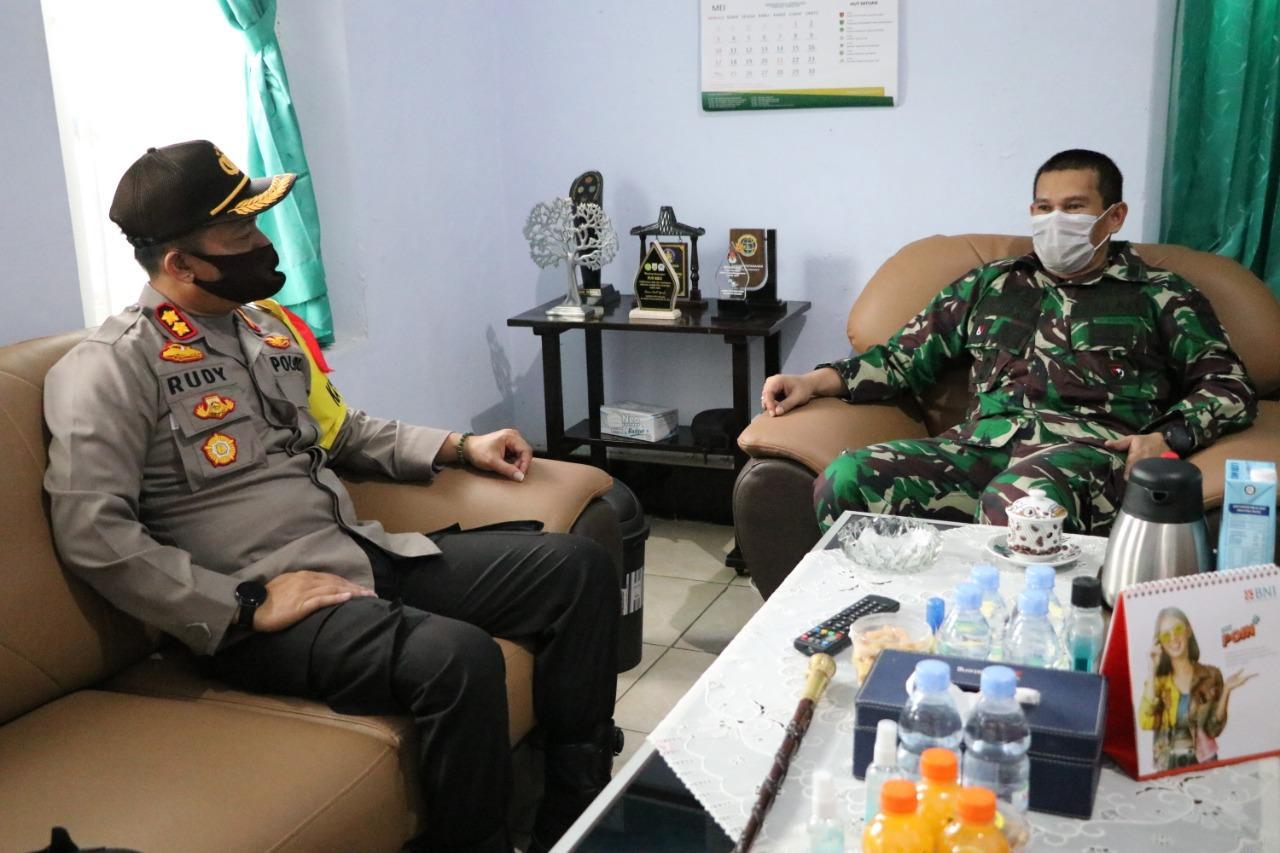 Hari Pertama Kerja, Rombongan Polisi Datangi Kodim 0709 Kebumen