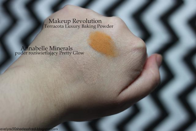 Makeup Revolution Terracotta Luxury Baking Powder Annabelle Minerals puder rozświetlający Pretty Glow