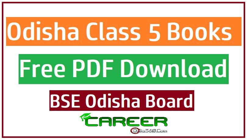Odisha Class 5 (V) All Books BSE Board Free PDF eBook