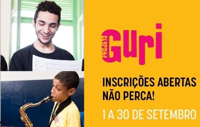 PROJETO GURI –POLO ILHA MANTÉM ABERTAS ATÉ 30/09 AS INSCRIÇÕES PARA AULAS DE VIOLÃO E PERCUSSÃO