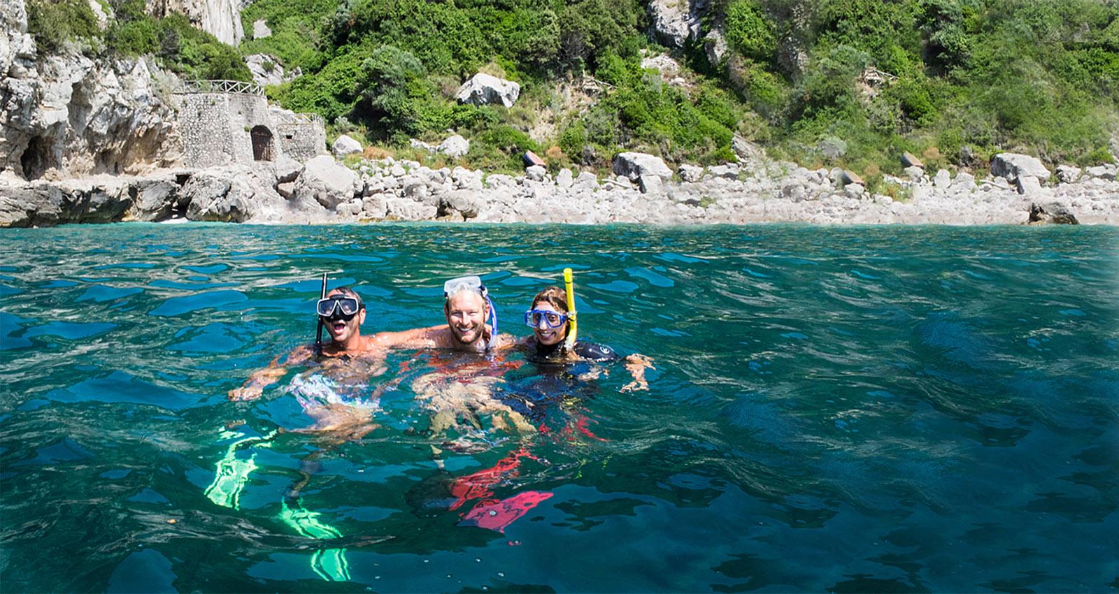 Подводное плавание с маской в Пунта-Кампанелле