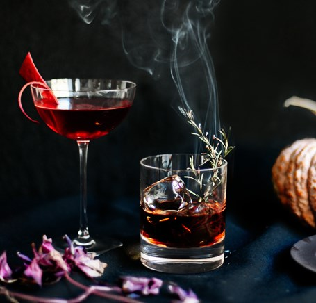 SLEEPY HOLLOW COCKTAIL #halloweencocktail #drink