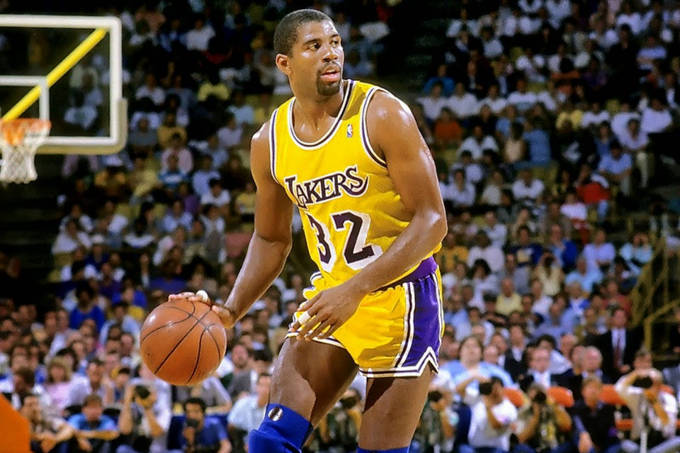 Magic Johnson drible LA LAkers