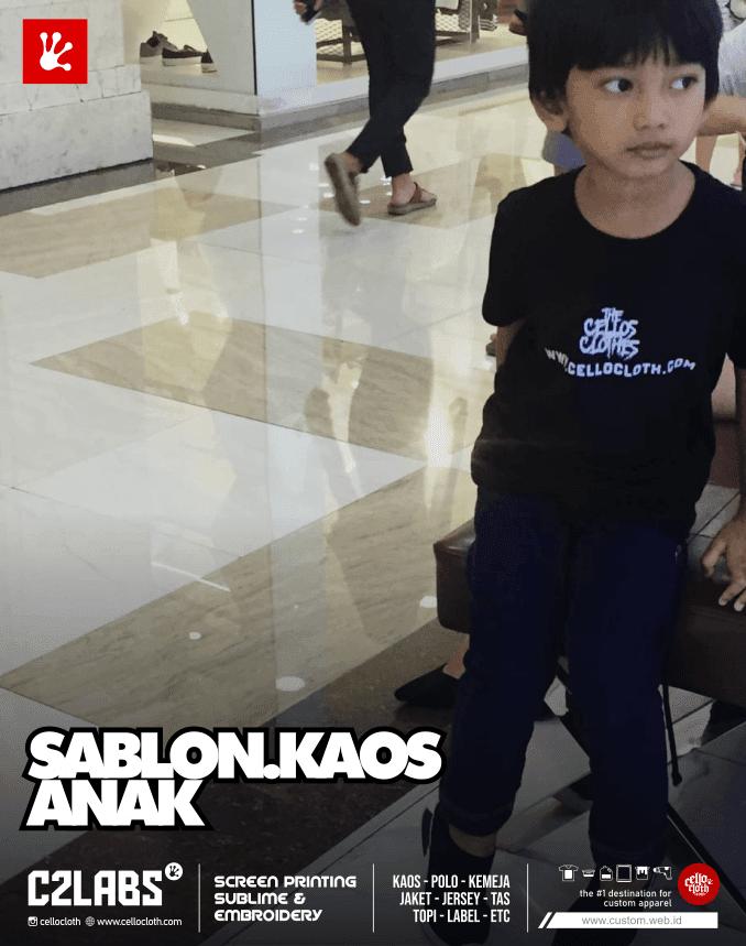 Sablon Kaos Anak Distro Cotton Combed Premium - Sablon Kaos Jogja