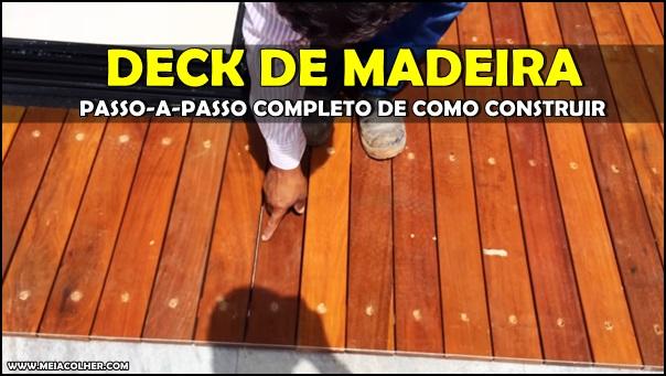 construção de deck madeira