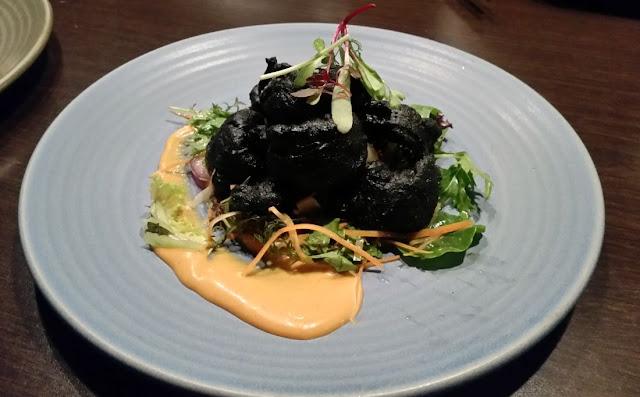 Tatsumi, Newmarket, New Zealand, tempura calamari salad