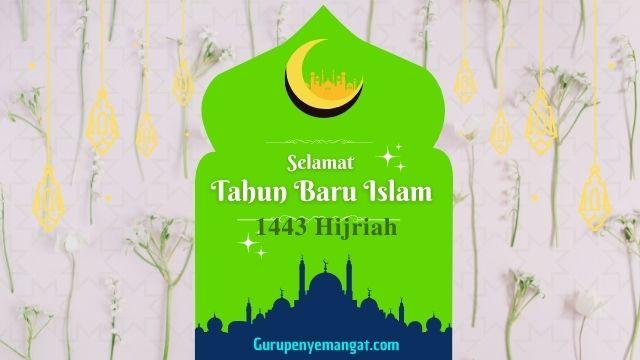 Kartu Ucapan Selamat Tahun Baru Islam 1 Muharram 1443 Hijriah