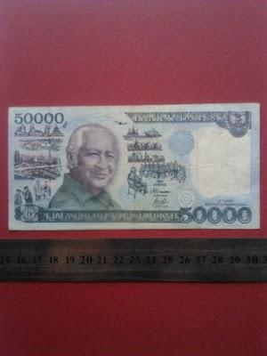50000 rupiah tahun 1995