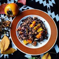 Podzimní salát s quinoou a kaki