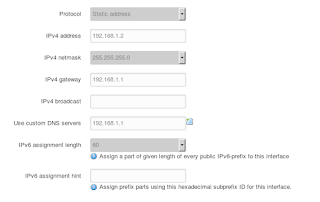 LAN interface general setup for the given scenario.
