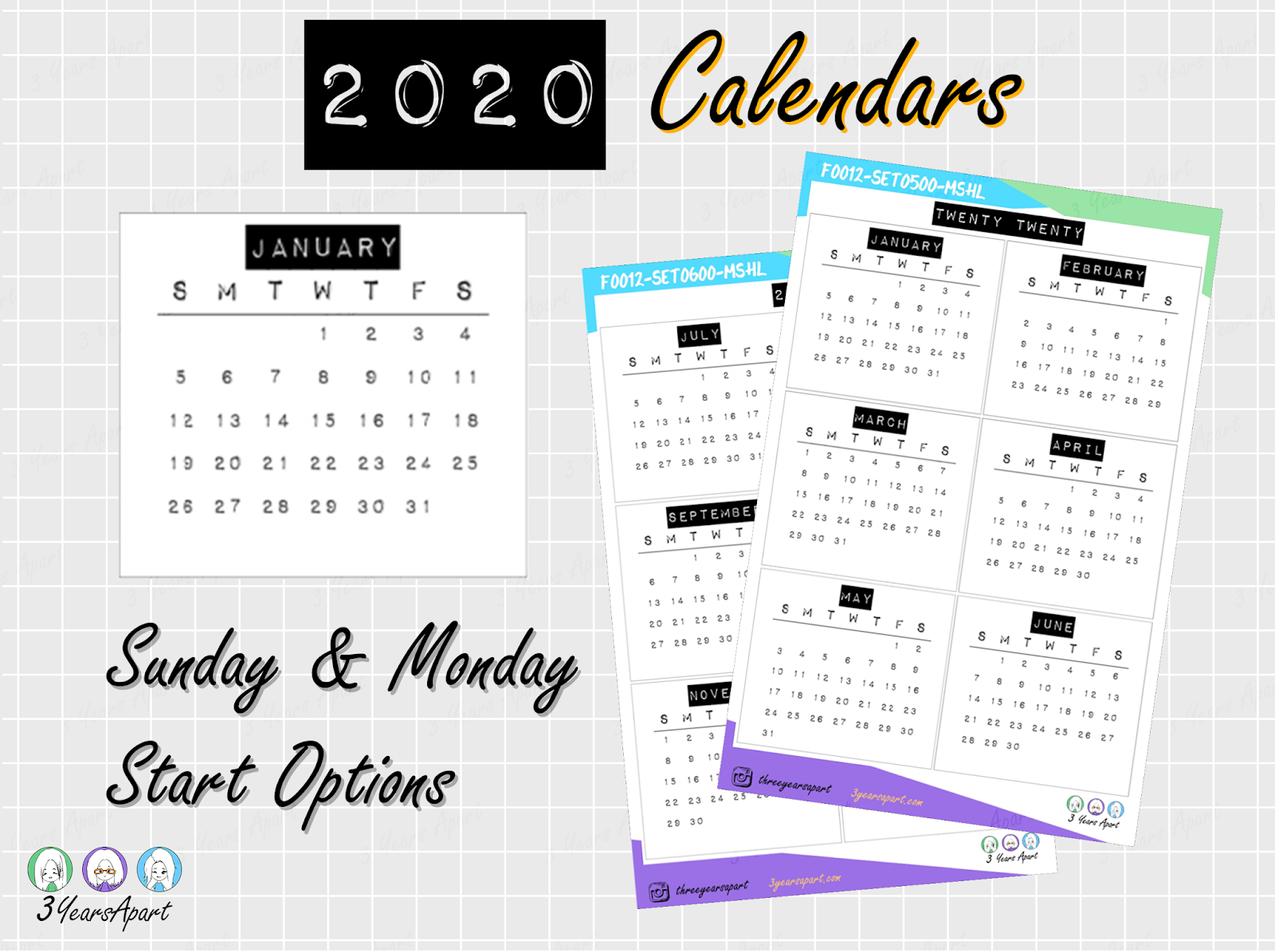 Yearly Calendar Free Printable