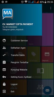 Aplikasi android market pulsa MA MOBILE TOPUP