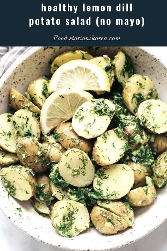 healthy lemon dill potato salad (no mayo)