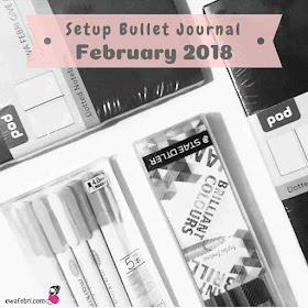 bullet journal indonesia setup ideas february