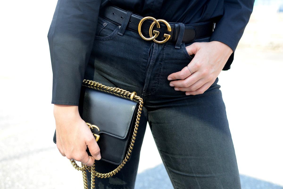 Gucci marmont belt le chateau blouse vancouver fashion blogger gucci marmont bag aleesha harris 7