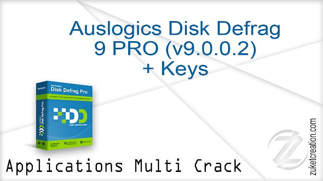 Auslogics Disk Defrag 9 PRO (v9.0.0.2) + Keys