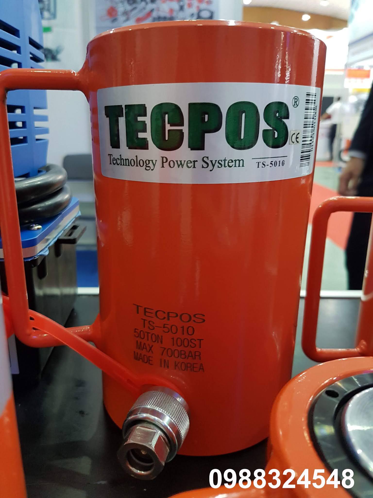 Kích thủy lực Tecpos 50 tấn TS-5010, hành trình 100mm