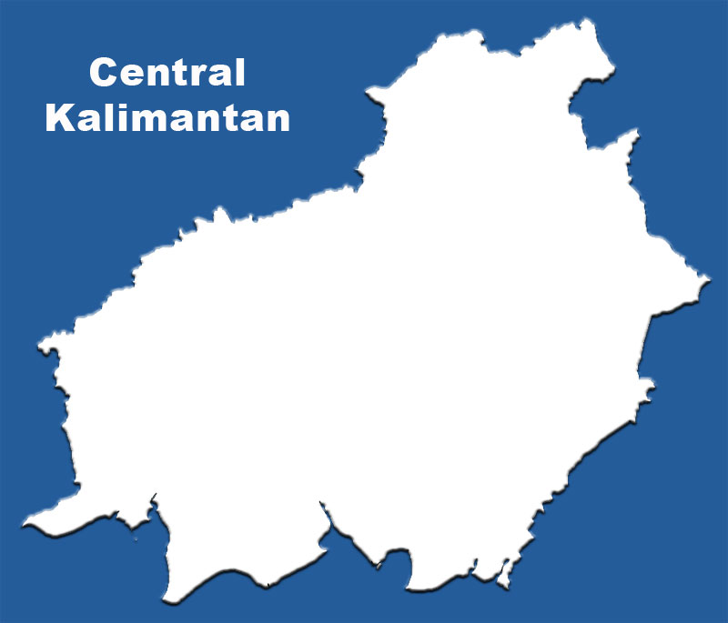 image: Central Kalimantan Blank Outline Map