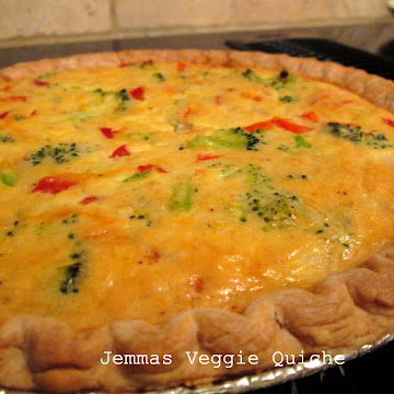 Vegetable Quiche-Weekend Meal