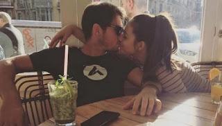 Dusan Lajovic Kissing Girlfriend Lidija Mikic