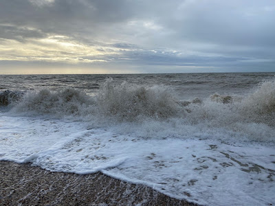 Waves on the beach in Worthing