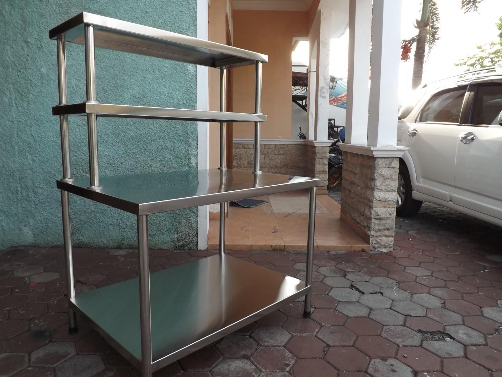 Meja Stainless Steel Untuk Dapur Resto Hotel Dll Oven