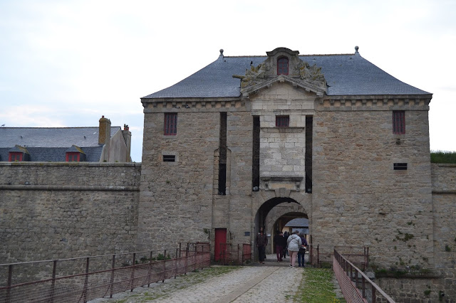 Photo de l'entrée de la citadelle de Port-Louis