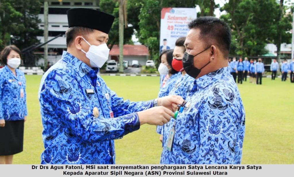 Irup HUT Ke-49 Korpri, Pjs Gubernur Fatoni Apresiasi Dedikasi ASN Pemprov Sulut
