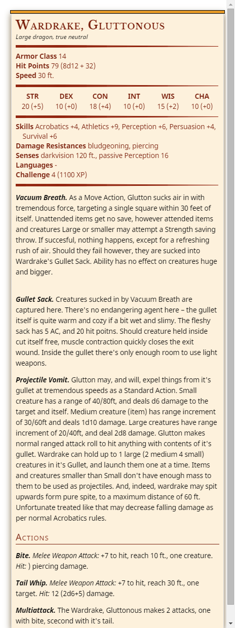 Mad Martin S Dungeon Pf1 Dnd 5e A Beastie Of Mine Glutton Wardrake Every monster has six ability scores (strength,. mad martin s dungeon pf1 dnd 5e a