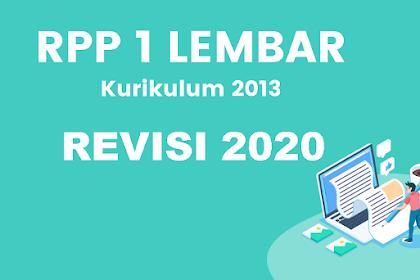 Download RPP Satu Lembar K13 Revisi 2020 PKN Kelas 7 Jenjang SMP/MTs