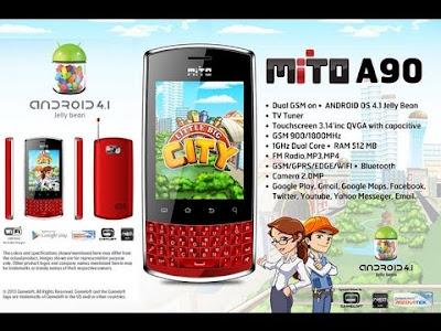 Harga HP Mito Android dibawah 1 Juta - HP Mito A90