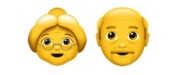 Old Woman/Man emoji Hindi Meaning