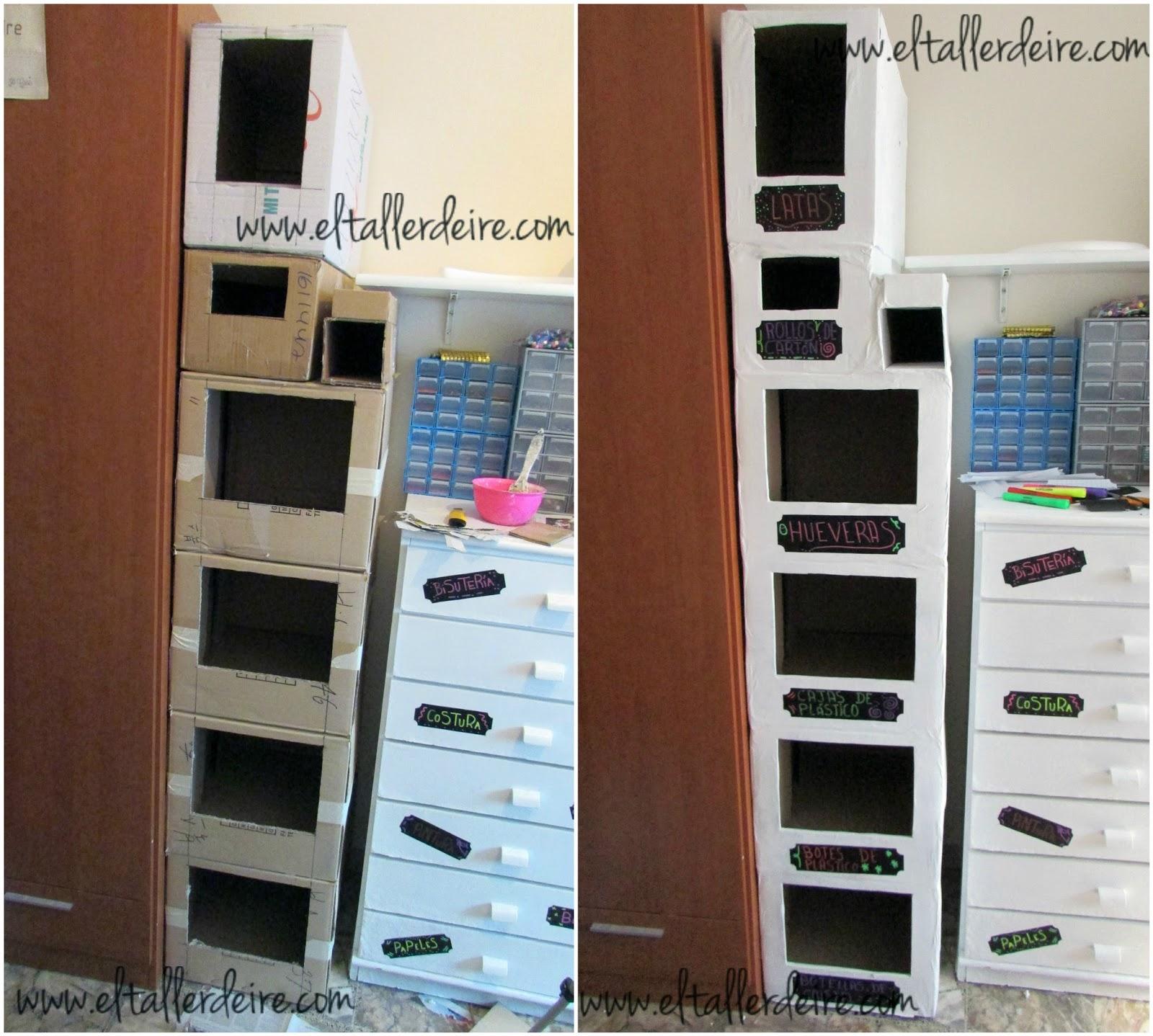 El Taller De Ire Diy El Mueble Del Reciclaje # Muebles Diy De Carton
