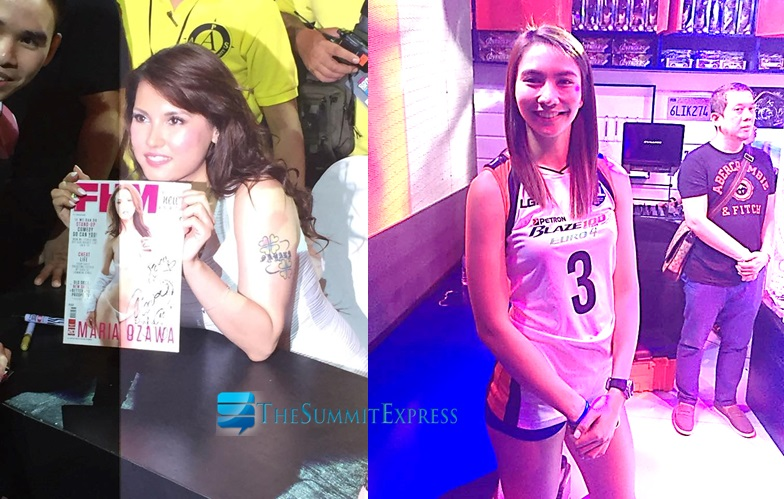 Japanese star Maria Ozawa and volleyball player Rachel Anne Daquis at FHMBroCon 2015