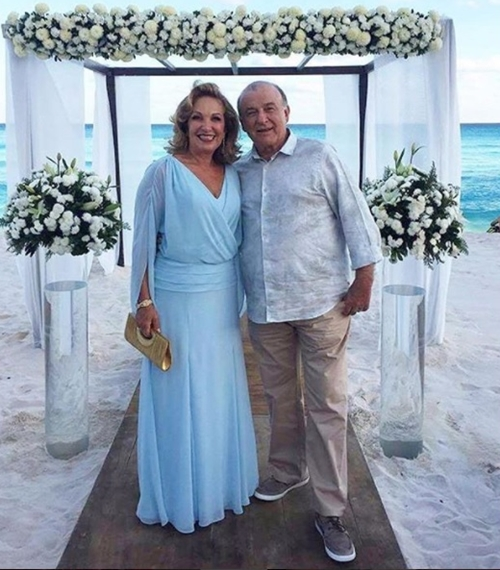 vestido mãe da noiva casamento na praia