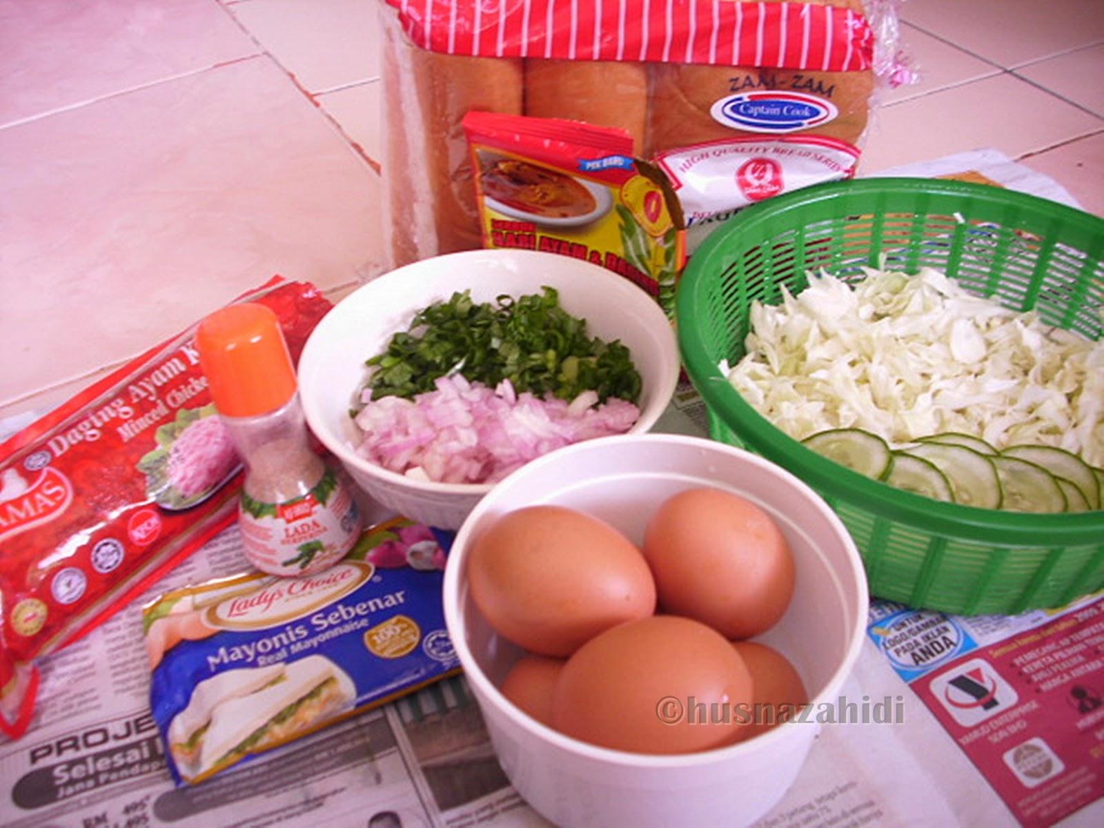 bahan-bahan roti john