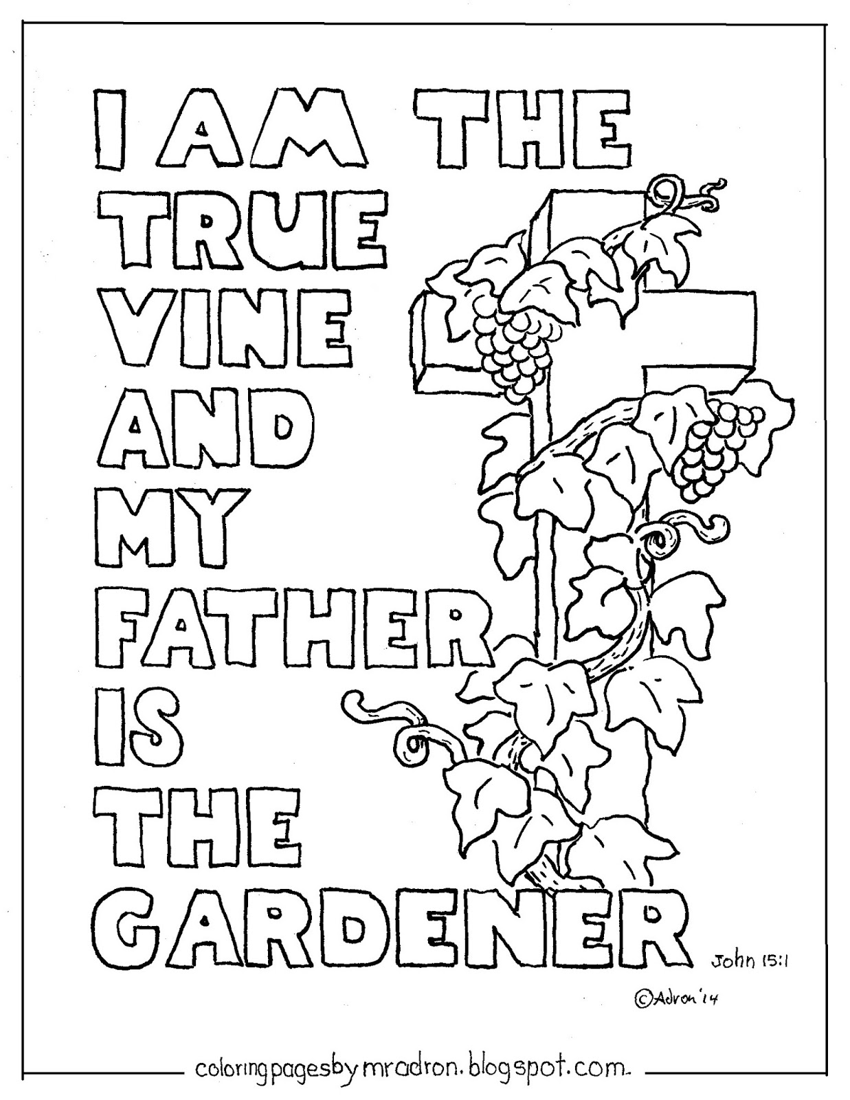 coloring pages for kidsmr. adron i am the true vine