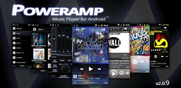 Android : Poweramp Music Player v2.0.9 Build 564 + Patch