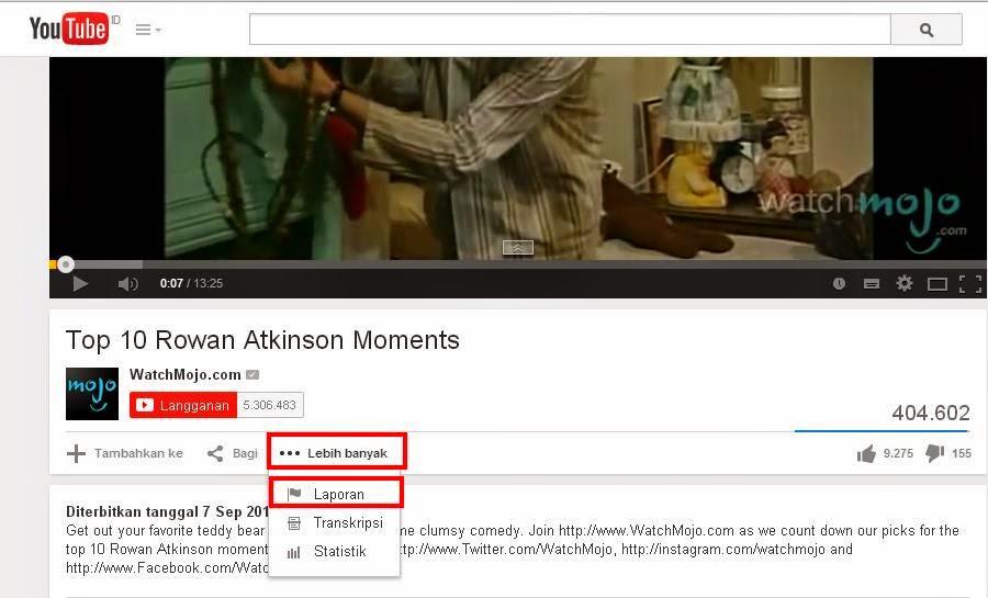 Cara Melaporkan Video di Youtube Yang Bermasalah Terbaru
